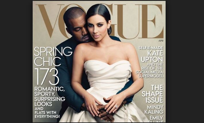 kim kardashian en vogue mag