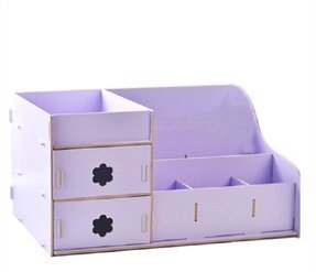 Purple bedroom ideas: cute bedroom storage organizer