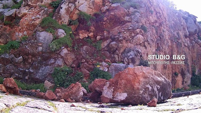 Ναύπλιο: Αποκολλήθηκαν βράχοι στην Ακροναυπλία (βίντεο)