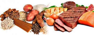 Proteínas y carbohidratos alimentación