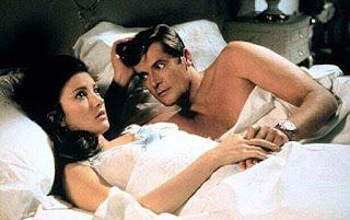 Bond girl Jane Seymour and Roger Moore