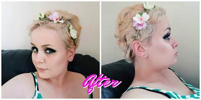 after using garnier olia b+++ super blondes extreme bleach