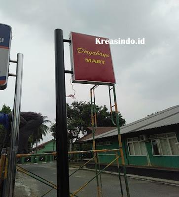 Pemasangan Neon Box Divisi Infanteri 1 Kostrad Cilodong Depok