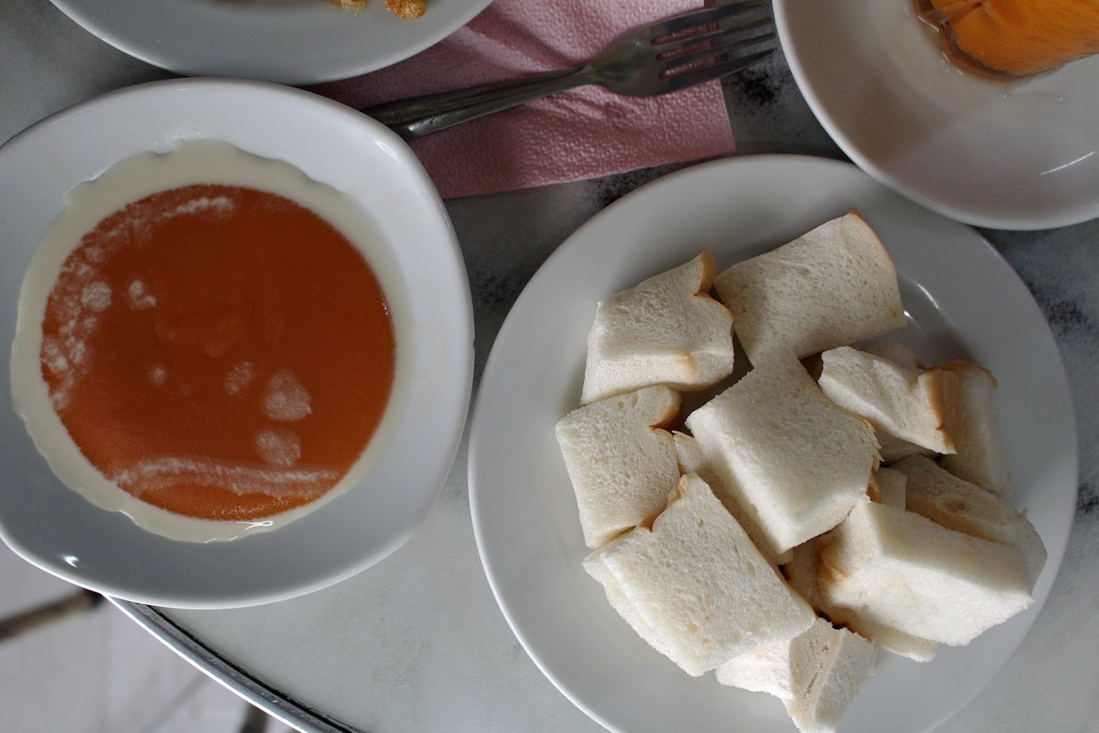 French Toast (above) and fluffy white bread with their signature kaya ...