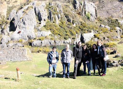 Foto de grupo en el parque de la Arboleda