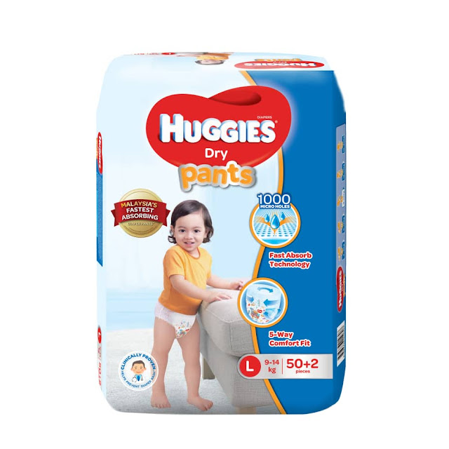 Huggies Malaysia's Fastest Absorbing Diaper Pants