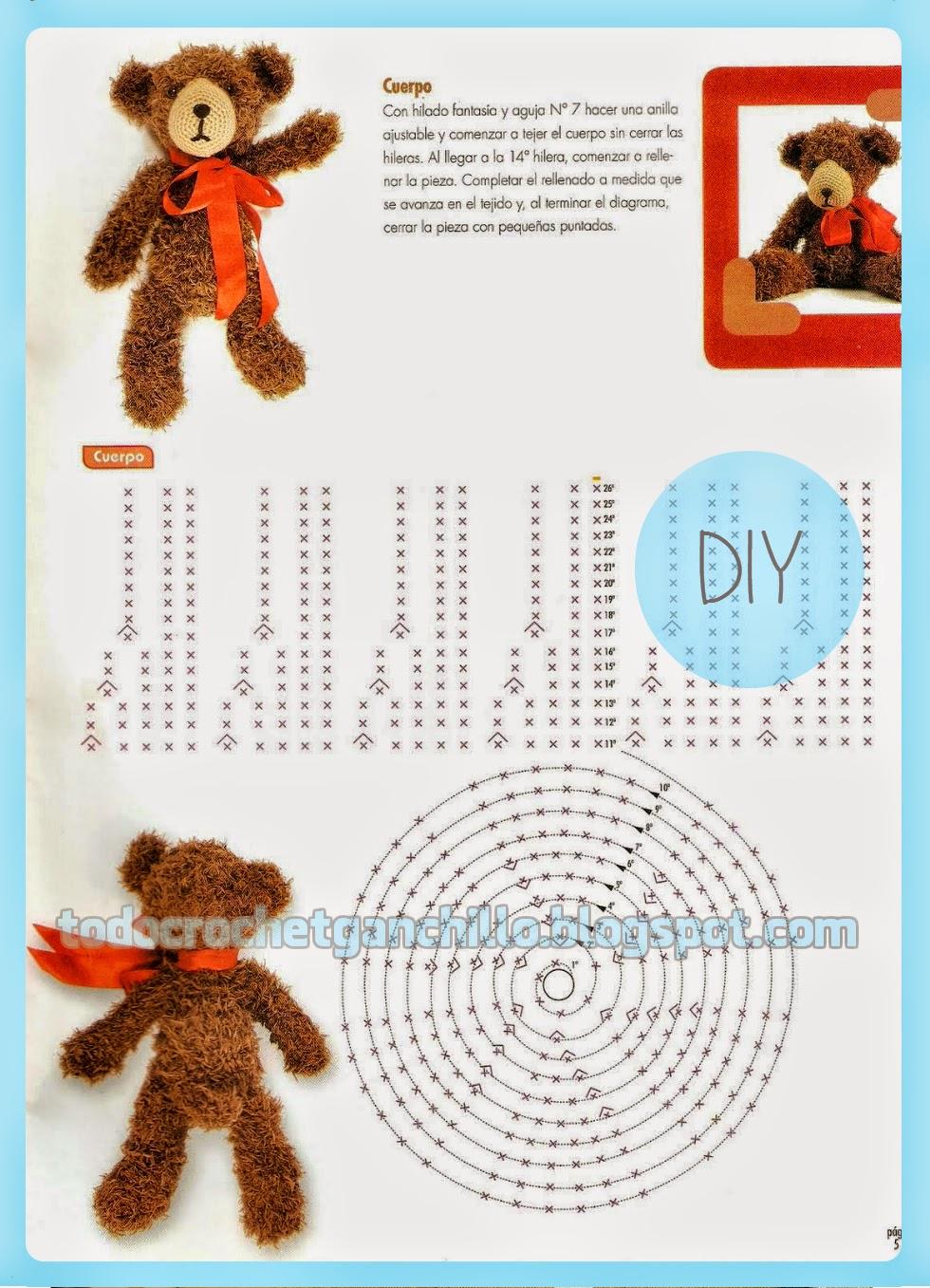 Osito Teddy tejido con ganchillo - explicación en Español | Todo crochet