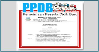 Contoh SK PPDB 2018/2019 SD SMP SMA SMK Format doc