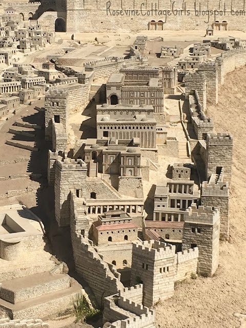 Beautiful model of the old city of Jerusalem and the temple