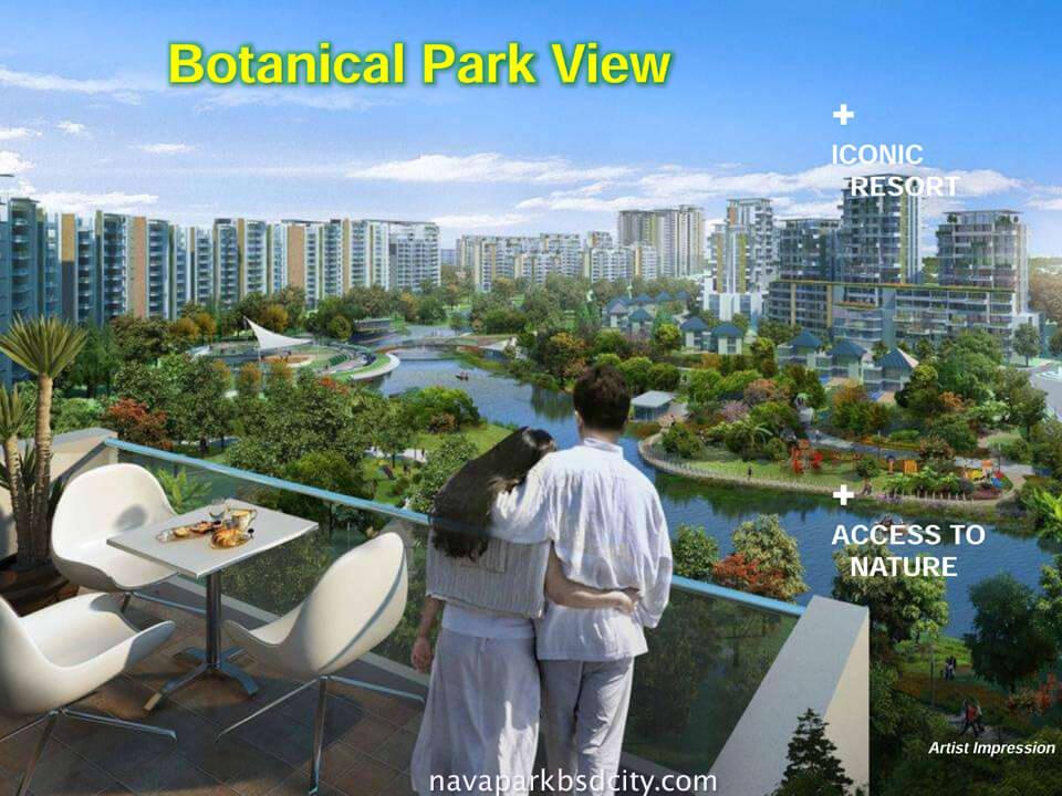 Botanical Park View dari Balcony Condo Marigold Navapark