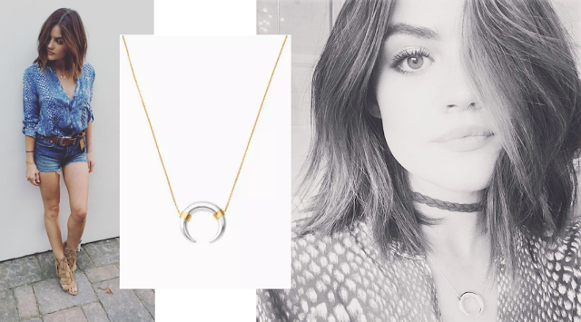 Actress Lucy Hale in Stella & Dot's Luna Pendant Necklace