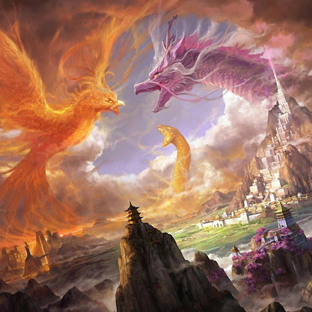 Phoenix Dragon Snake Wallpaper Engine