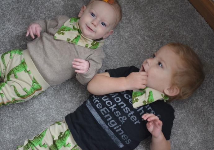 Lamb and bear, crocodile leggings, kids fashion blogger