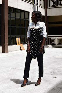 Minimalism with a twist. how to transform your regular white shirt by MoonWalker - a Nigerian Fashion and lifestyle blogger