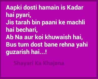 image - aapki dosti hai is kadar pyaari hindi dosti vali shayari by shayari ka khajana