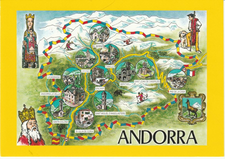 The PstcrdBlog Andorra MapCard Spain Post