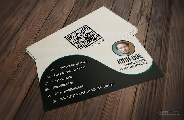 Creative Black & White Business Card