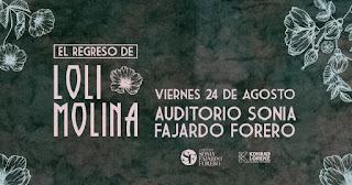Concierto de LOLI MOLINA en Bogotá