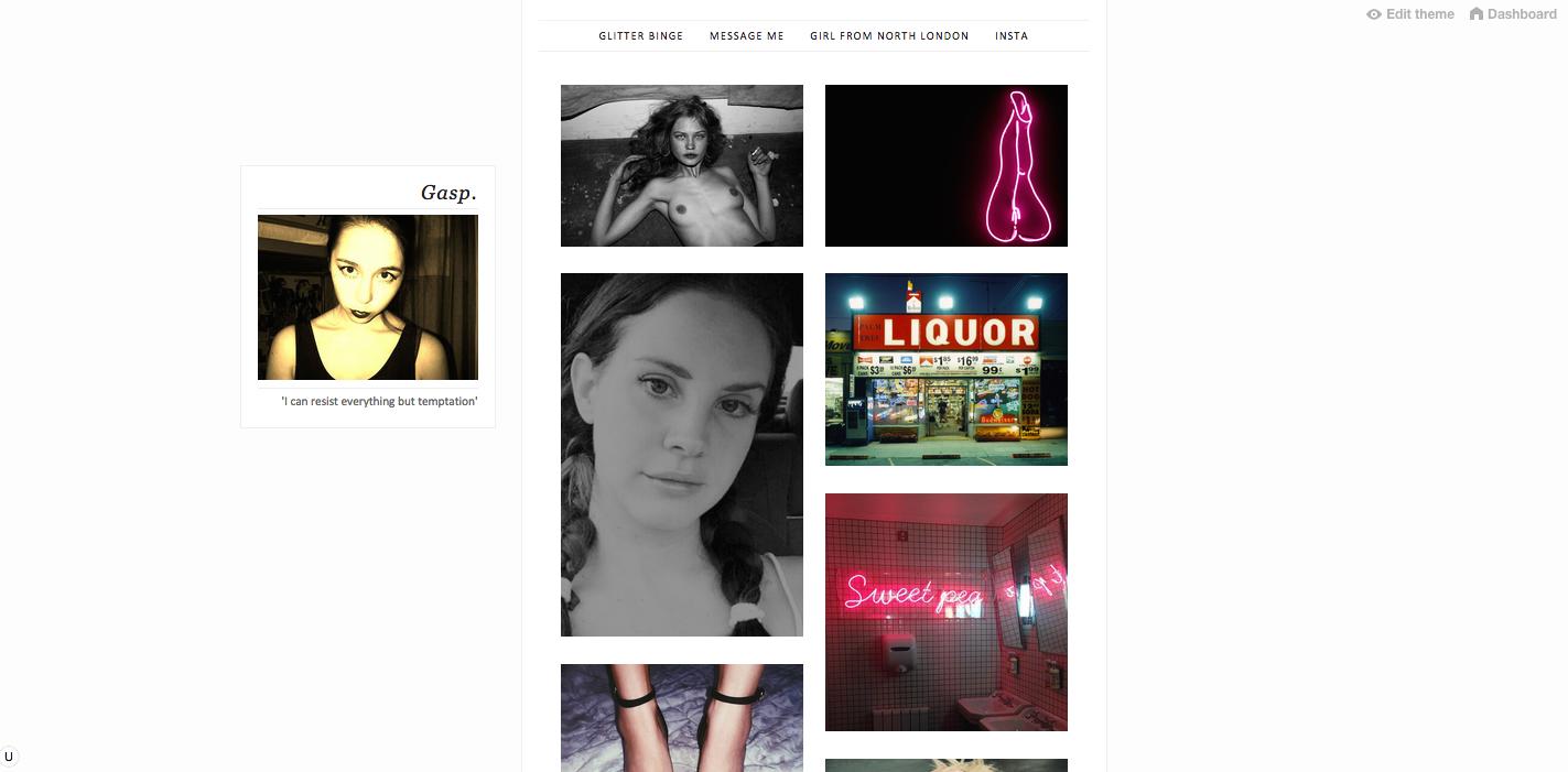 Gasp, Personal, Tumblr, Blog, Aya Oguri, Girl From North London