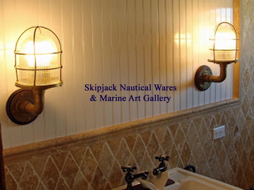 Nautical Bathroom Light Fixture: Skipjack's Nautical Living: Re-purposing Marine & Nautical