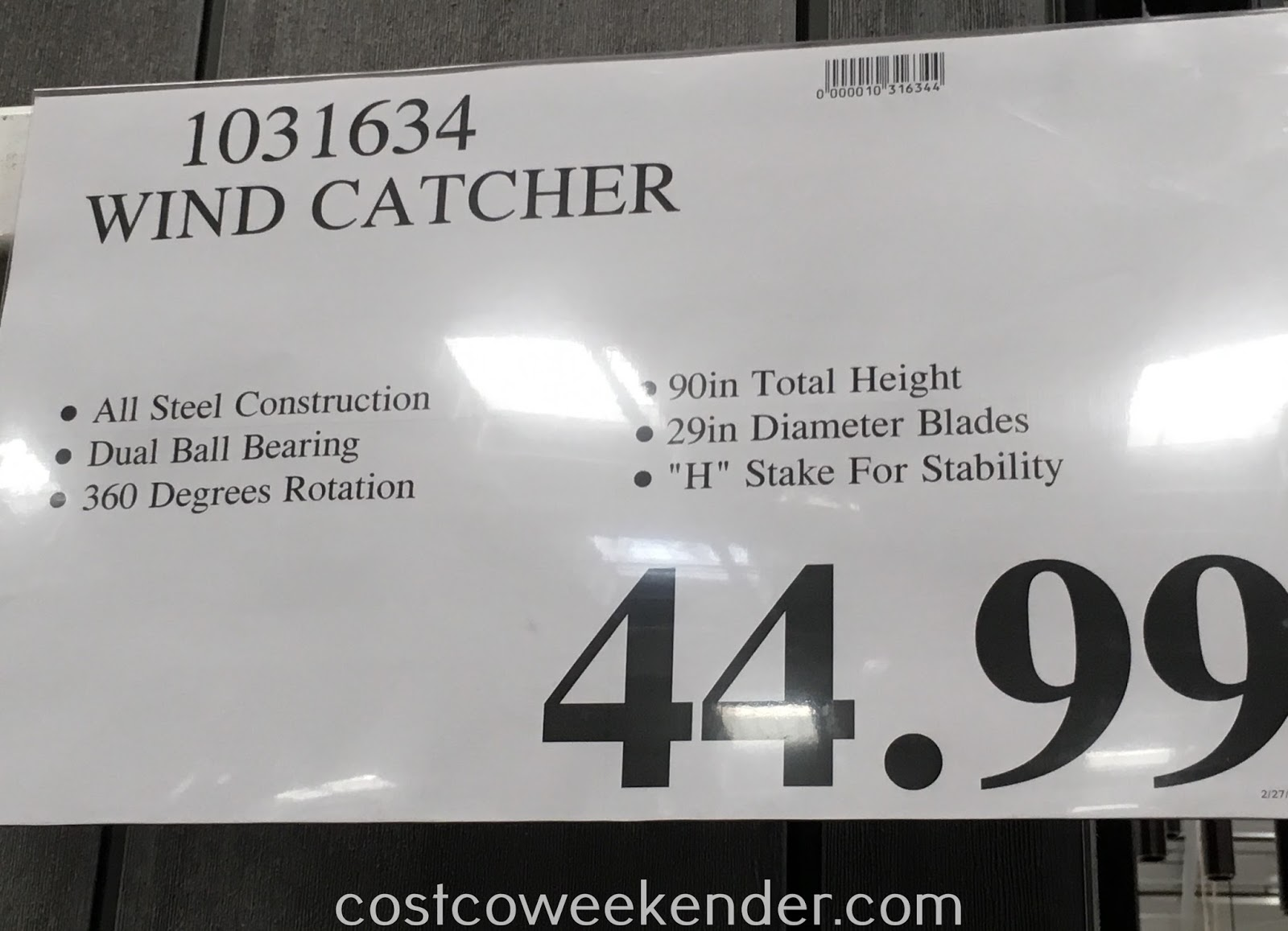 Deal for the Wind Catcher at Costco