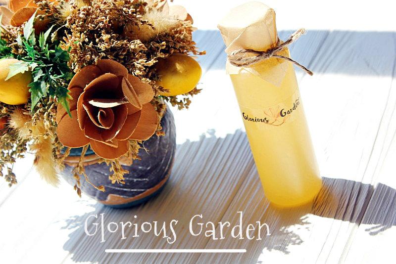 Натуральный гель для душа с экстрактом розы и василька от Glorious Garden / обзор, отзывы