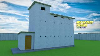 Desain Bangunan Walet 4x10 2 Lantai Premium DIAN WALET