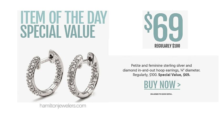 ARTISAN STERLING SILVER AND DIAMOND HOOPS - One Day Sale - NJ Jewelry Store