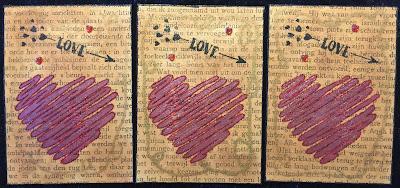 Valentijn hart ATC / Valentine heart ATC