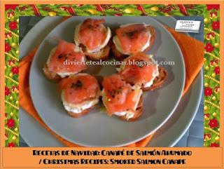 Divi rtete al cocinar recetas de navidad canap s de for Canape de salmon ahumado