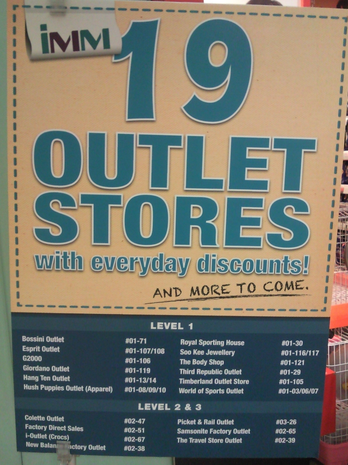 Flyers Advertising: IMM 19 Outlet Stores With Everyday