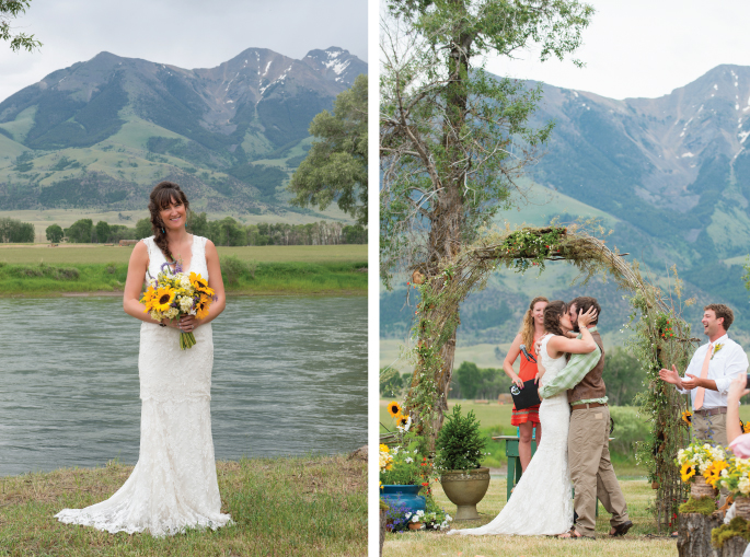 Montana Wedding / Photography: Amelia Anne Photography / Planning & Flowers: Katalin Green