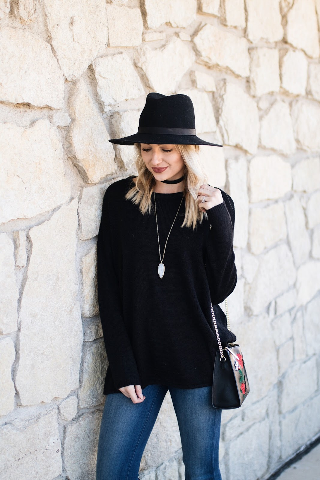 Oversized black sweater under $20