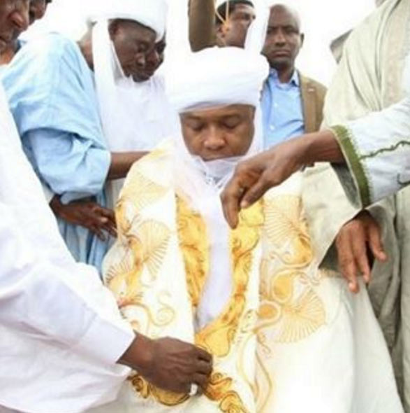 Saraki turbaned as the Baba Adini of Ansarul Islam Society of Nigeria