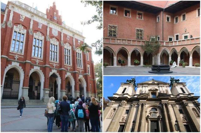Collegium Novum – Patio de Collegium Maius – Iglesia de Santa Ana en Cracovia