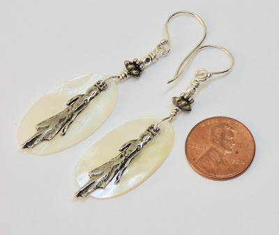 Pewter ladies earrings by BayMoonDesign