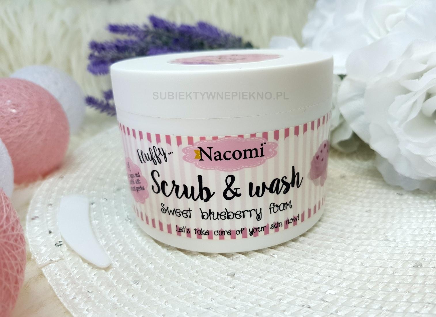 Pianka z peelingiem Nacomi słodka borówka Scrub & Wash