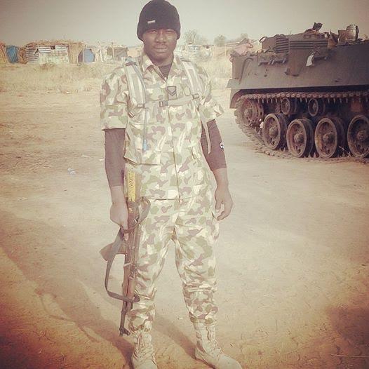 1 Photo: Nigerian soldier survives 3 rocket propelled grenades thrown at him by Boko Haram