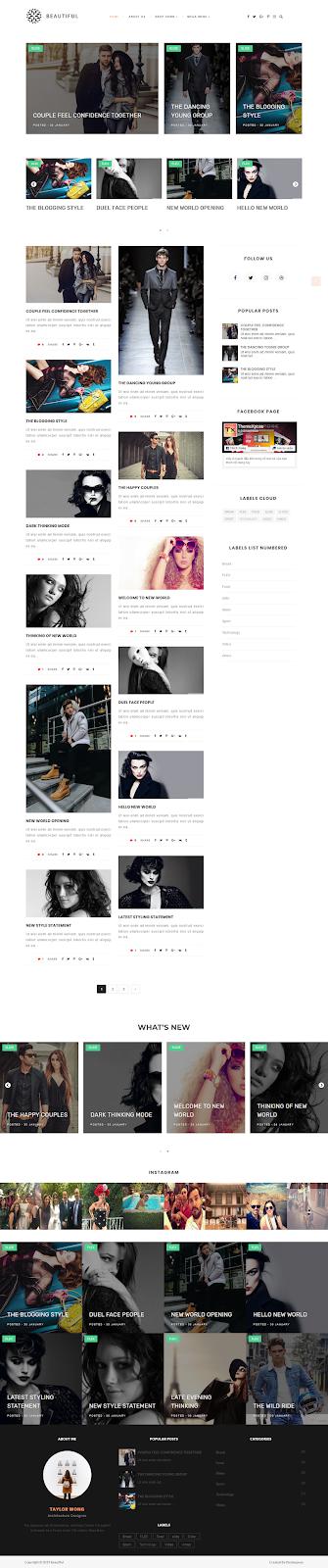 Beautiful Blogger Template