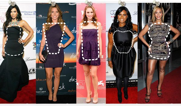 Celebrities wearing cocktail dresses