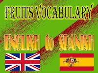 fruits vocabulary english to spanish