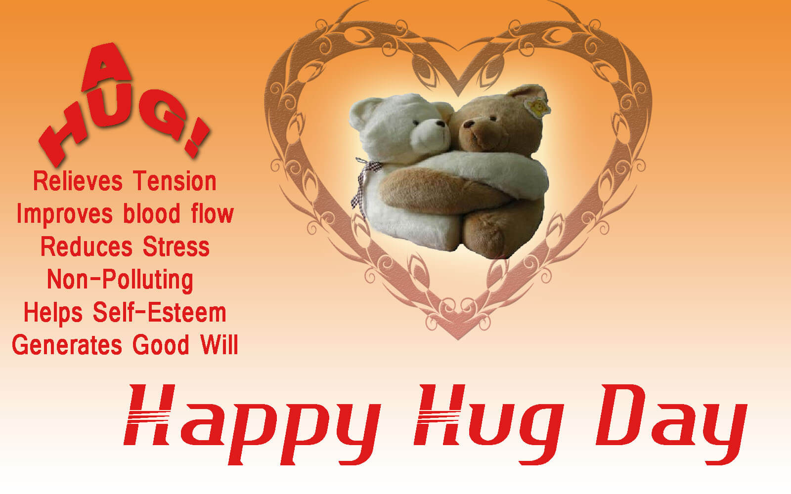 Happy Hug Day Images HD Wallpapers