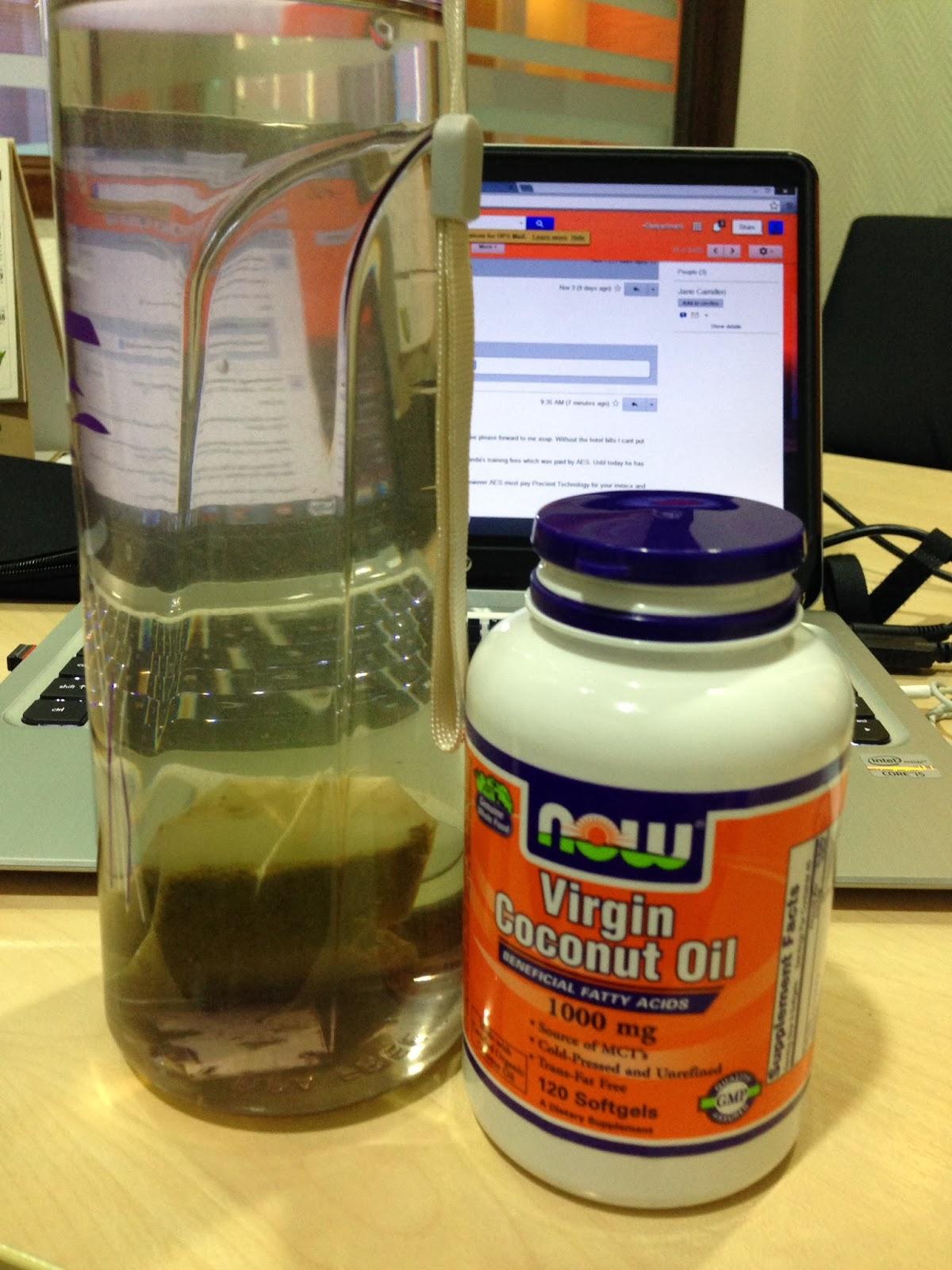 Virgin coconut oil herpes
