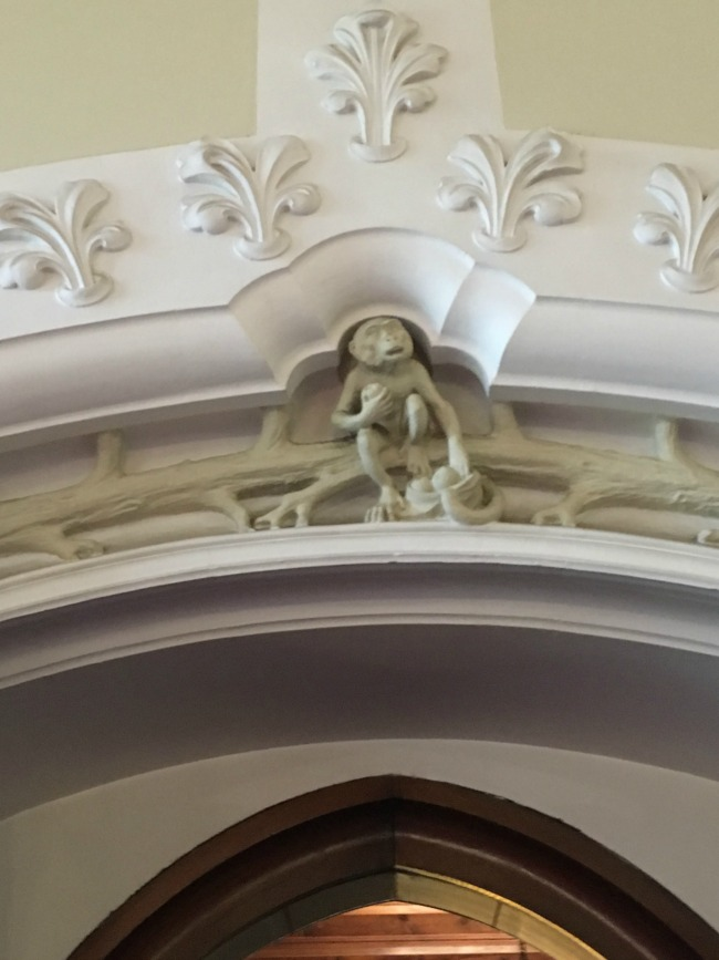 Cardiff-Castle-detail-of-a-monkey-above-the-doorway