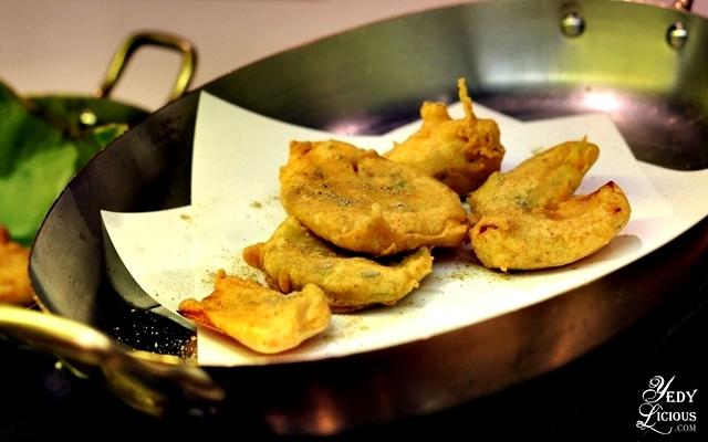Vegetable Fritters, Indian Food Buffet at HYATT COD Manila