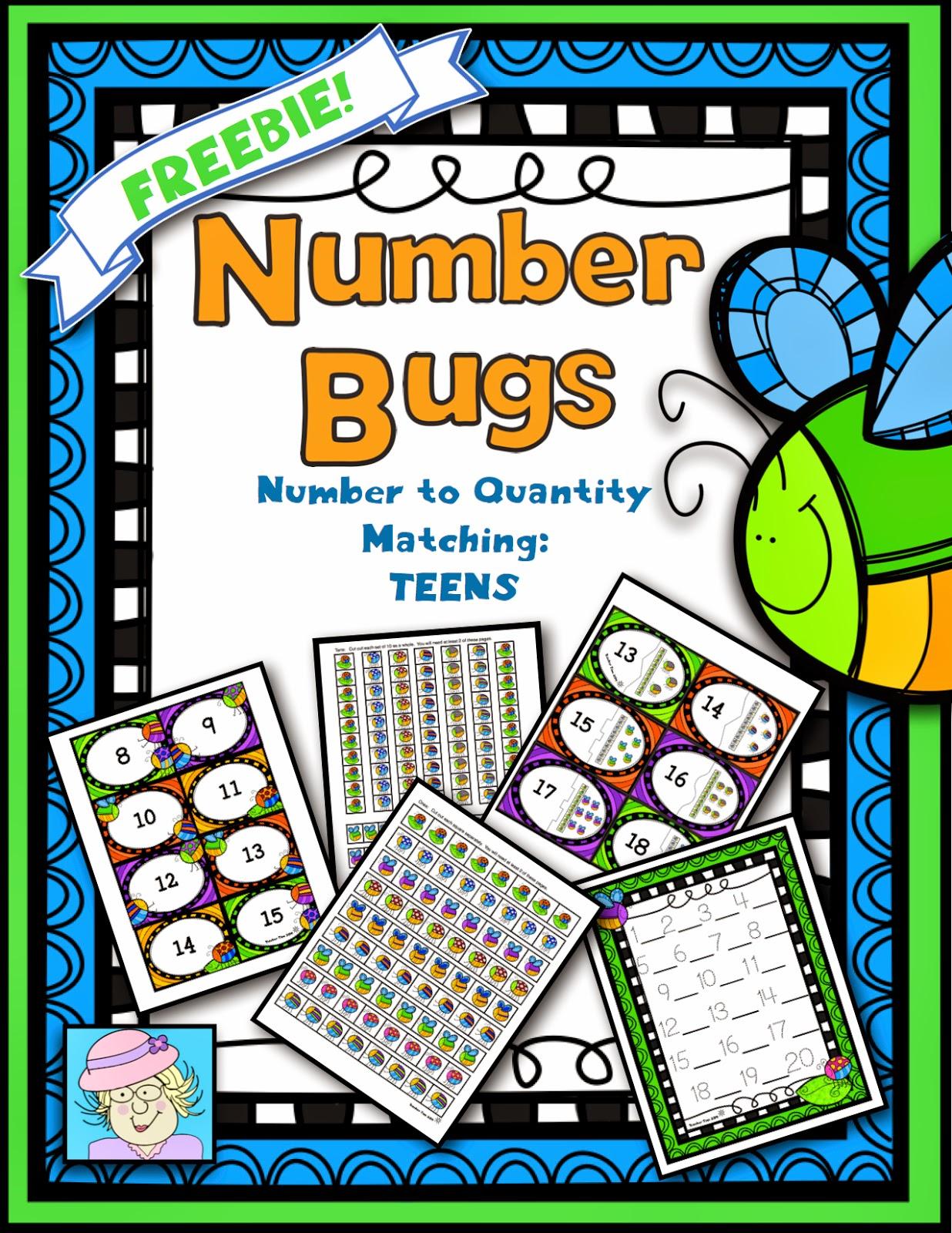 Teacher Tam S Educational Adventures Teen Number Bugs