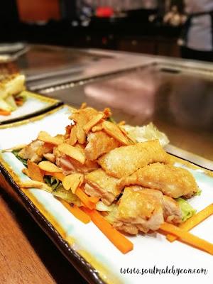 Teppan Chicken Set at Teppan Table, Kota Kinabalu Marriott Hotel