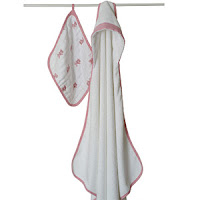 Aden + Anais Hooded Towel & Washcloth Set