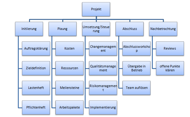 Projektphasen Operative Professional