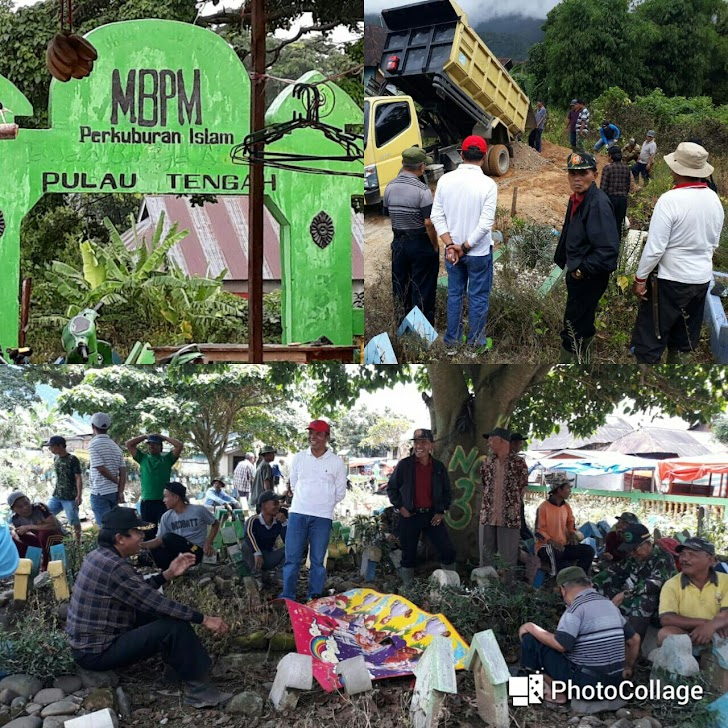 Bersama Warga Pulau Tengah, Zainal Abidin Goro Bersihkan Pemakaman